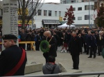 Mayor Brodie lays a wreath with Councillor McNulty